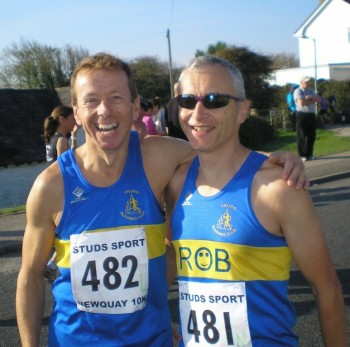 Gary Pascoe and Rob Cockings, Newquay 10k 2011