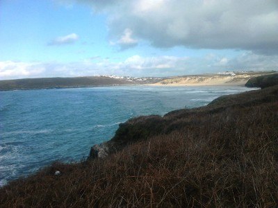 On the north Cornish coastal path towards Crantock
