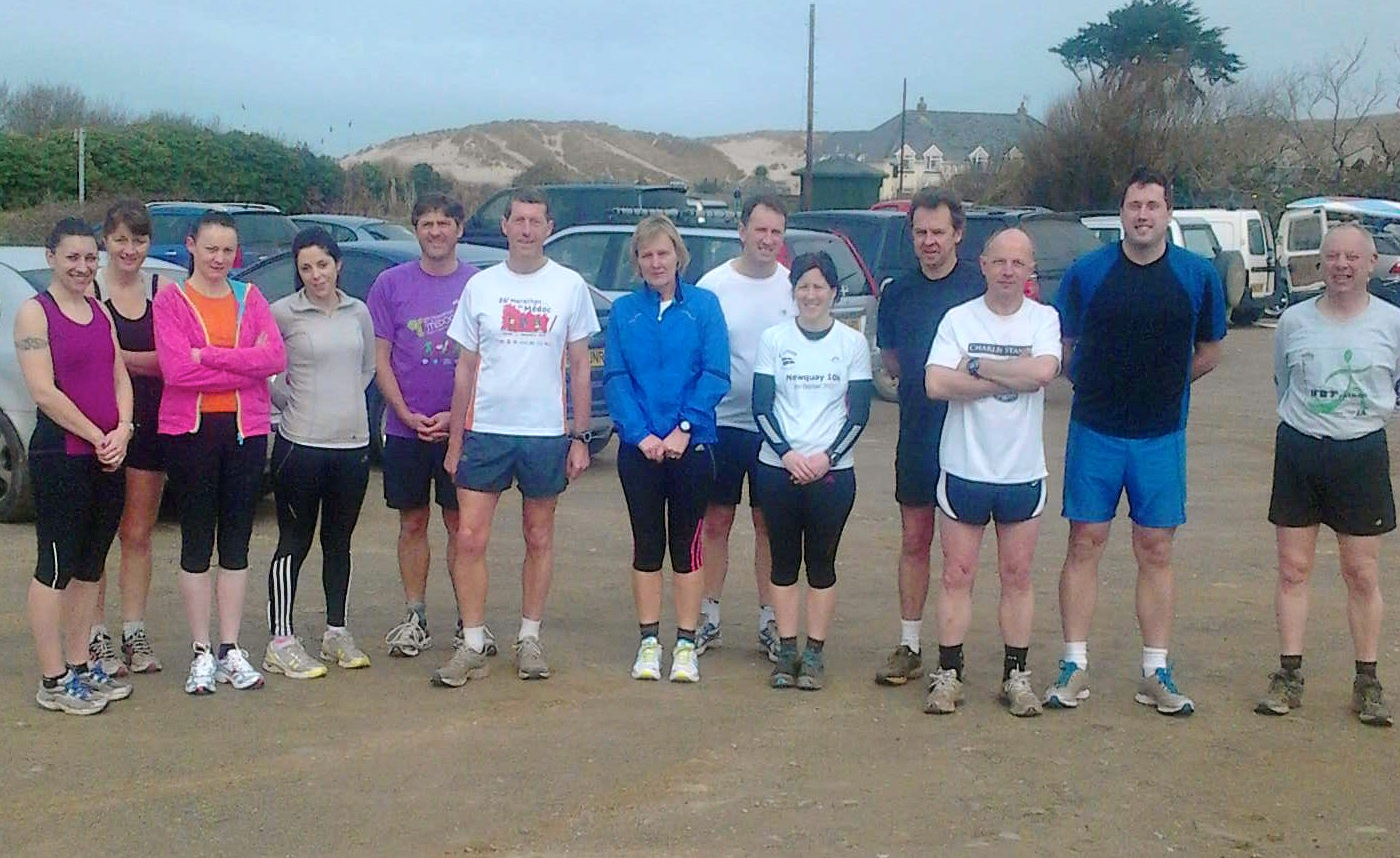 Holywell Bay Rave Run with Adrian Tyas, March 2012