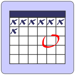 Event calendar clip art, with link to Event page